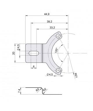 Flexible anti-rotation system 90.1018
