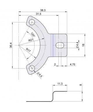 Flexible anti-rotation system 90.1024