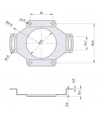 Flexible anti-rotation system 90.1027